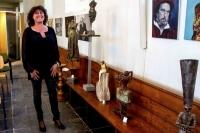 Bachfreunde en kunstenaar Marietta.JPG